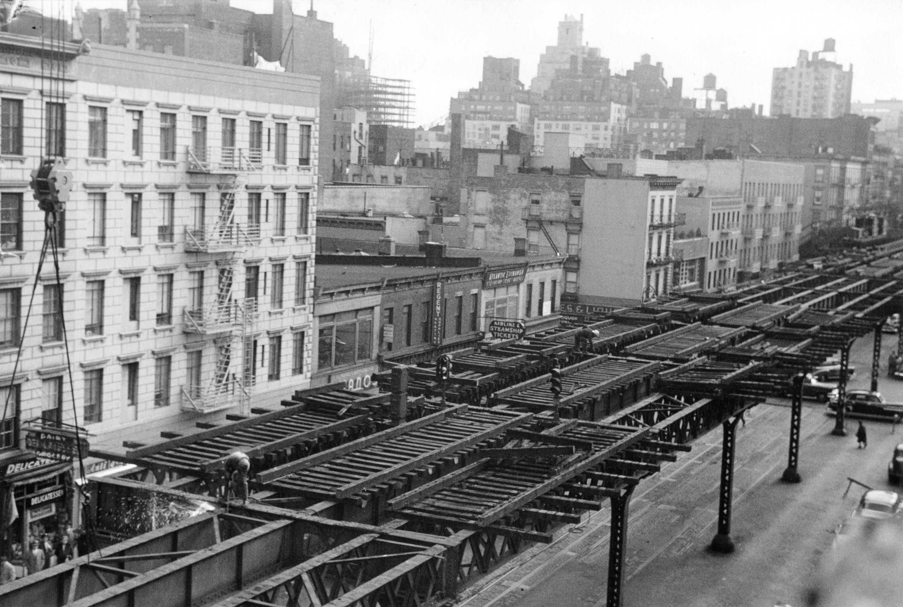 The Third Avenue Elevated tracks.