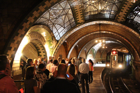Interior of old City Hall station.