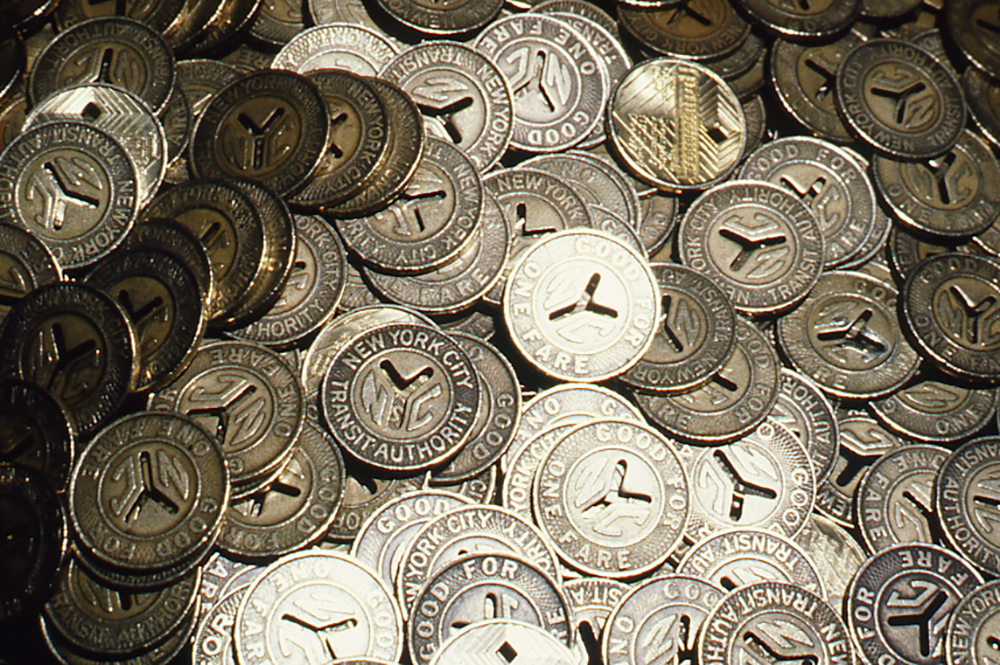 Tokens, 1991; New York Transit Museum, NYCT Photo Unit Collection