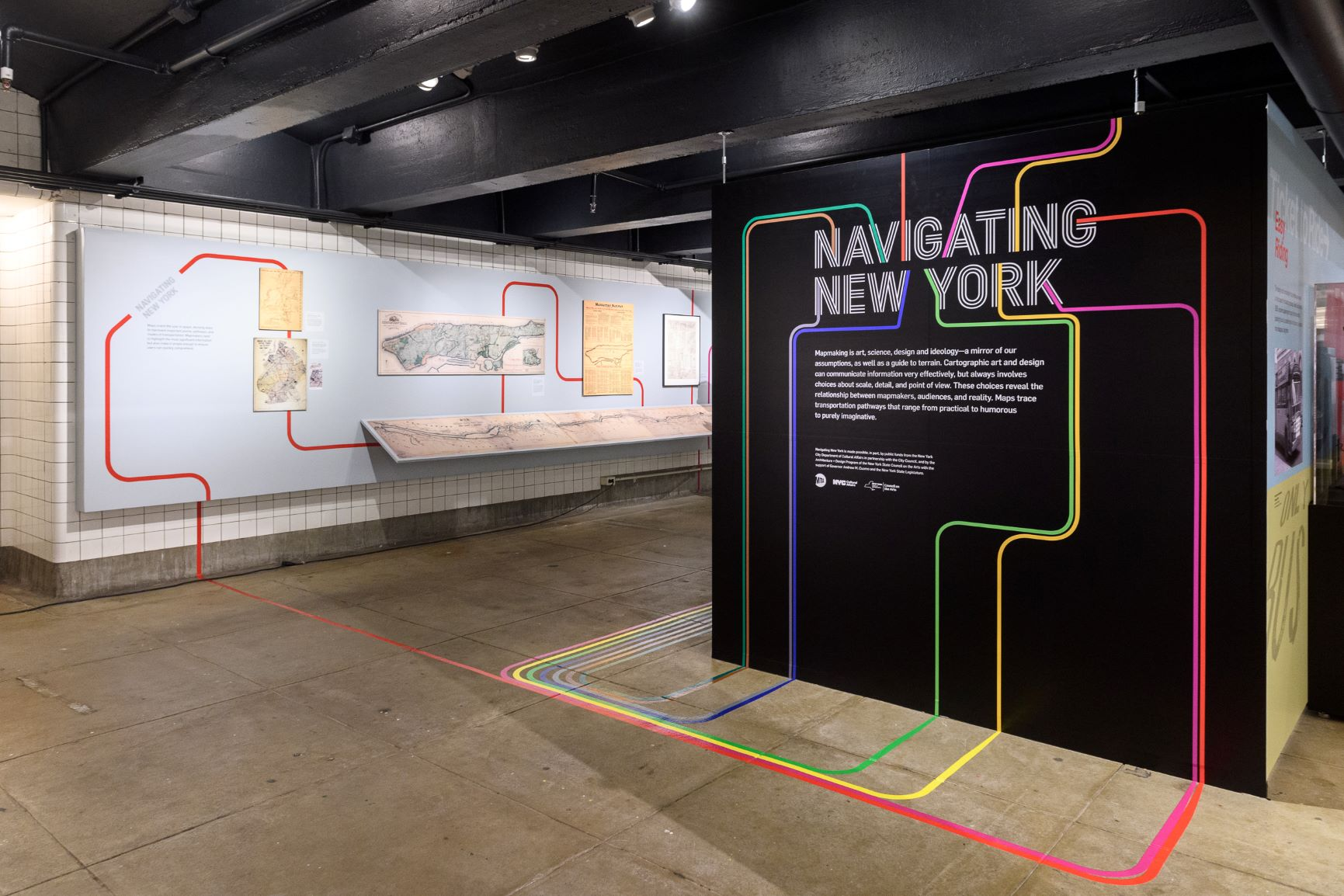 New York City Navigating Subway Map.Exhibits New York Transit Museum