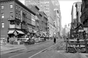 1930s scene of Court Street in downtown Brooklyn